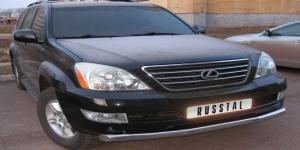 Lexus GX470 защита переднего бампера d76 LGZ-000370